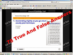 General Knowledge True False Test